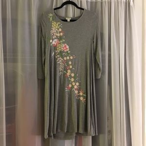 Spence Long Sleeve Embroidered Dress